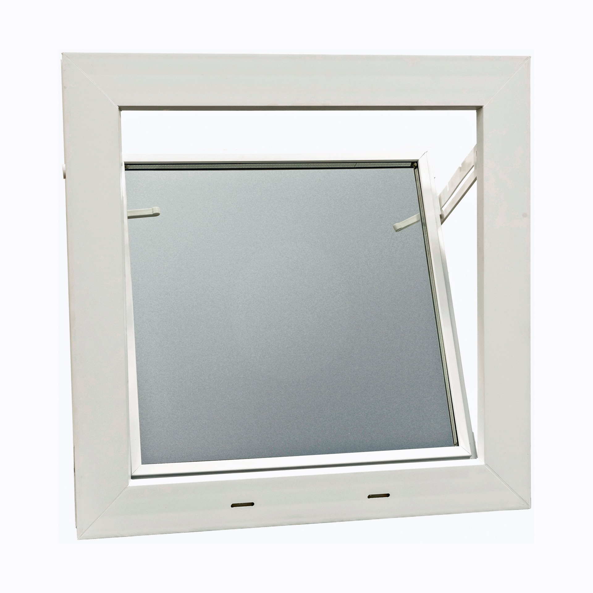 AKF Kunststoff Fenster Kellerfenster weiß mit Dickglas 5 mm Kippfenster